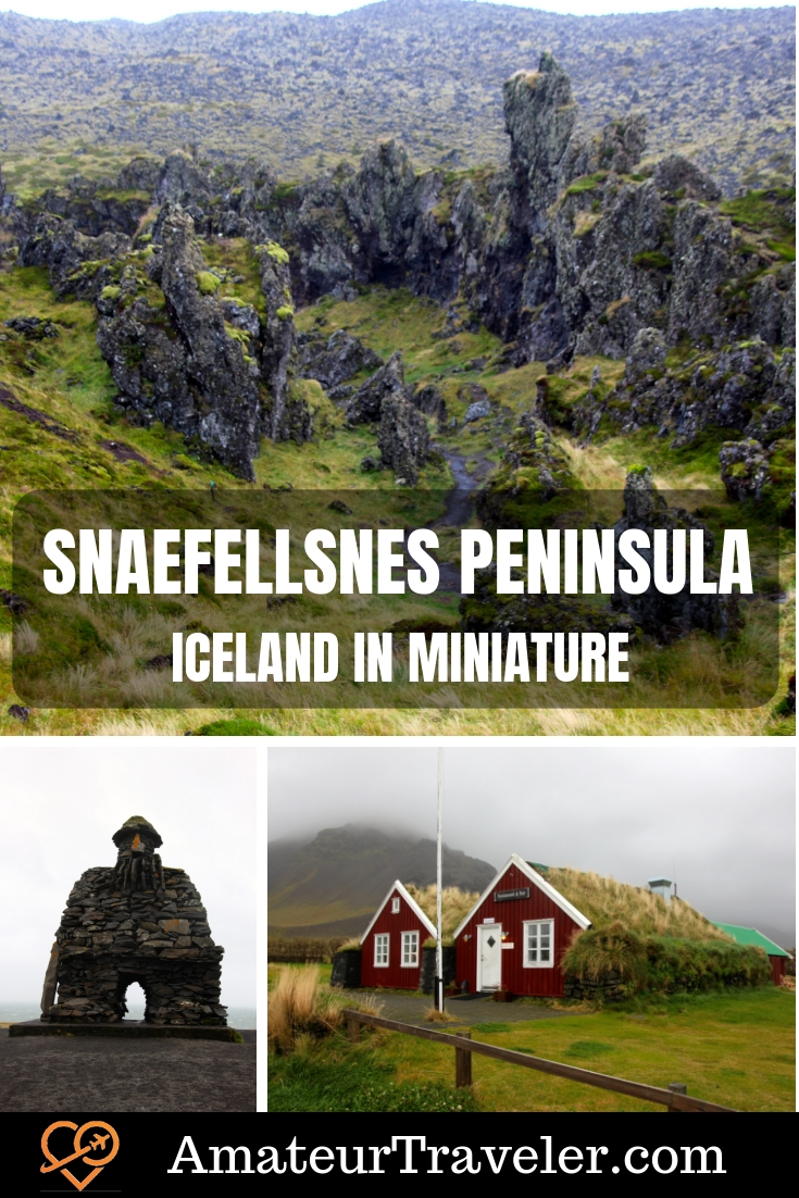 Snaefellsnes Peninsula - Iceland in Miniature #iceland #Snaefellsnes #travel #trip #vacation #destinations #thingstodoin #itinerary #landscape #waterfalls