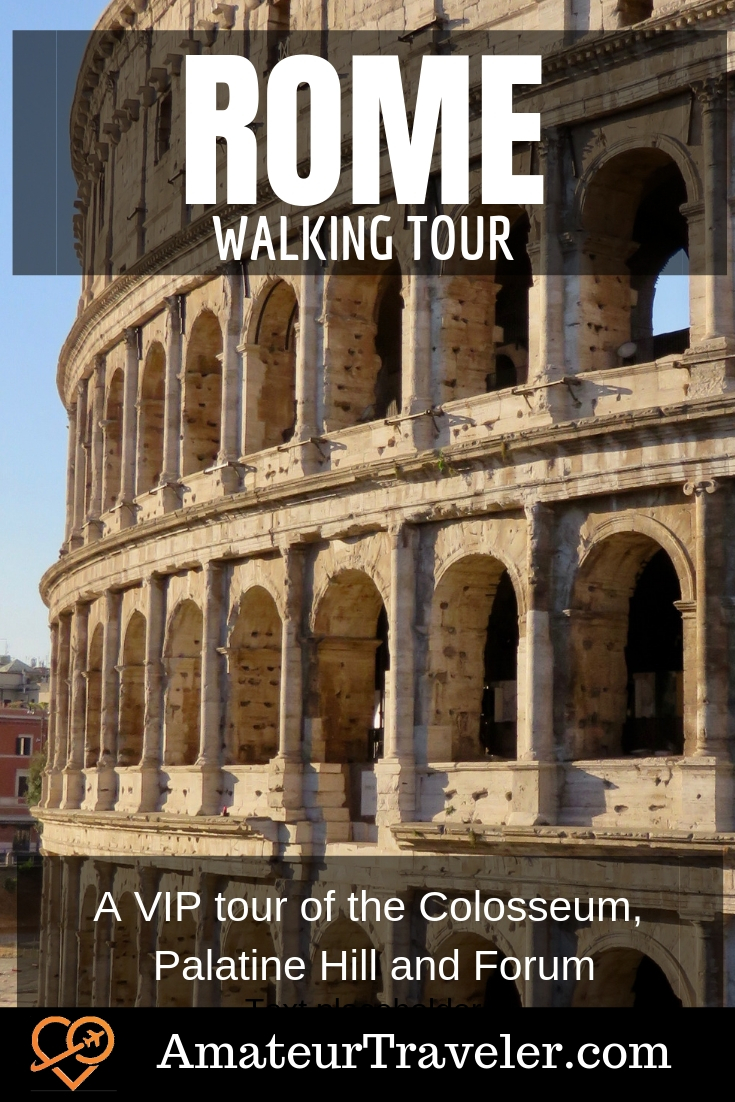 Rome Walking Tour - A VIP tour of the Roman Colosseum, Palatine Hill and Forum with LivItaly - Rome, Italy #travel #trip #vacation #thingstodoin #walking #tour #planning #rome #italy #ancient #history #colosseum #coliseum #itinerary