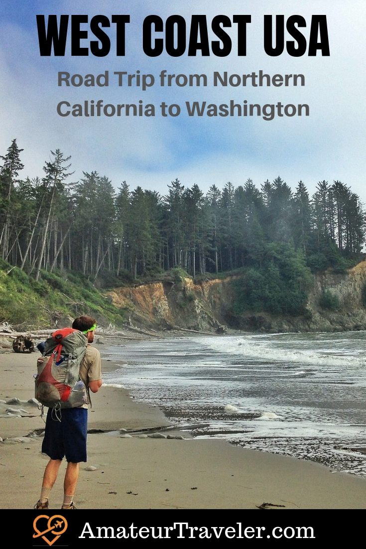West Coast USA Road Trip - From Northern California to Washington #road-trip #road #tip #travel #trip #vacation #california #washington #oregon #national-parks #olympic-peninsula #seattle #portland #coast #northwest #itinerary #destinations #places-to-visit
