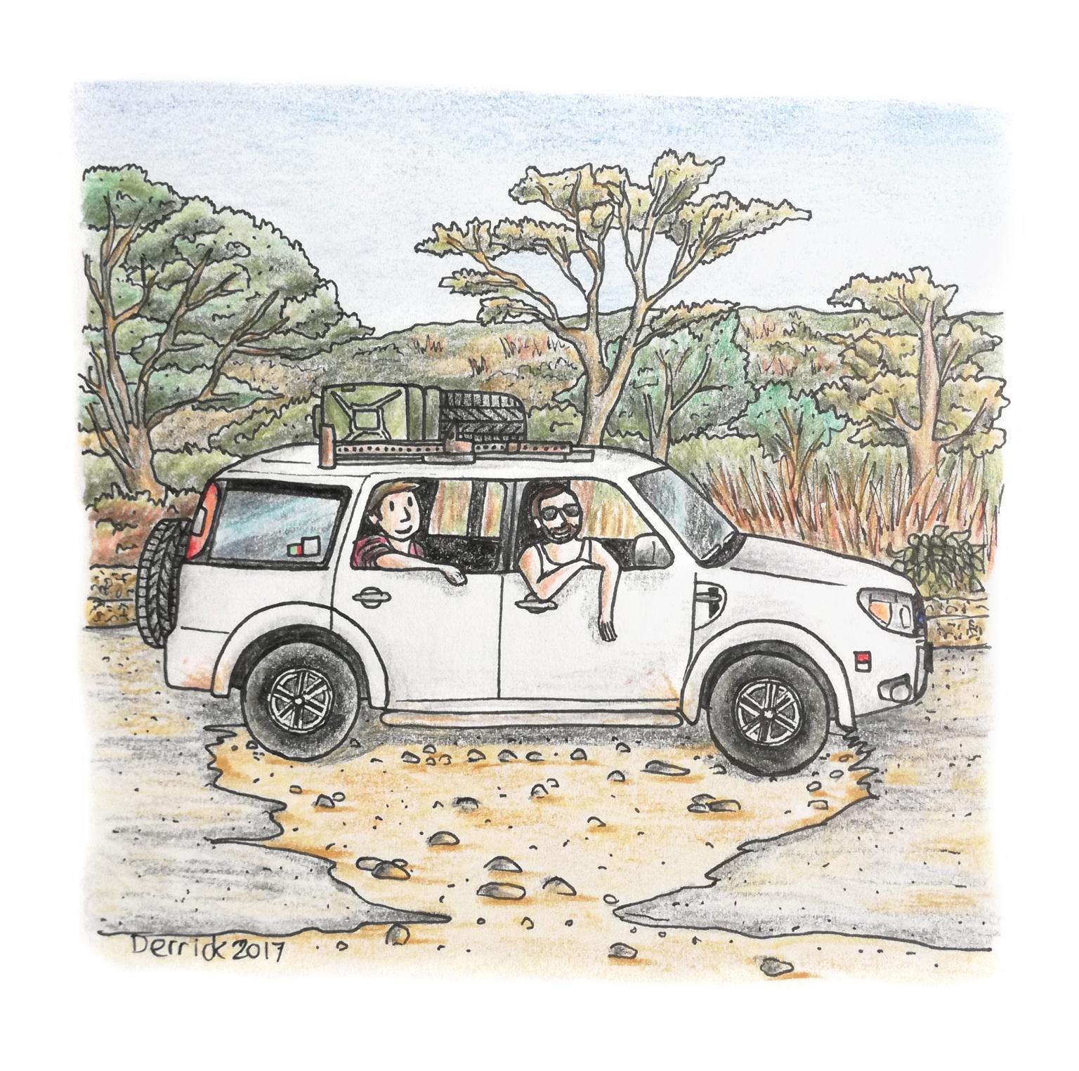 potholes sketch
