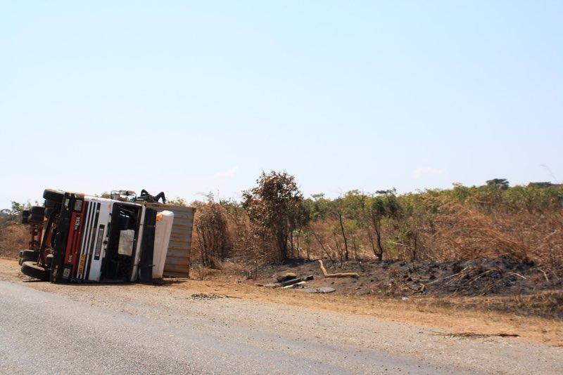 overturned truck Zambia