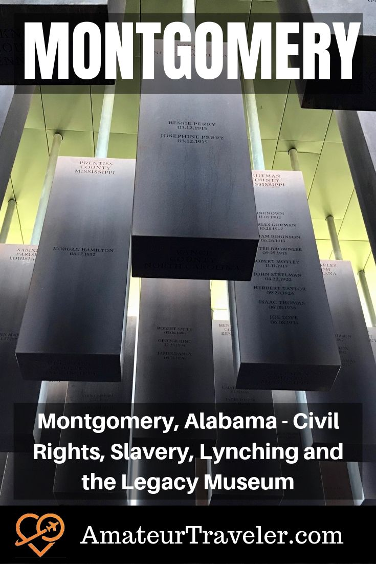 Montgomery, Alabama - Civil Rights, Slavery, Lynching and the Legacy Museum | Monument to Truth and Justice #alabama #montgomery #history #lynching #museum #civil-rights #itinerary #things-to-do-in #rosa-parks #places-to-visit #travel #trip #vacation