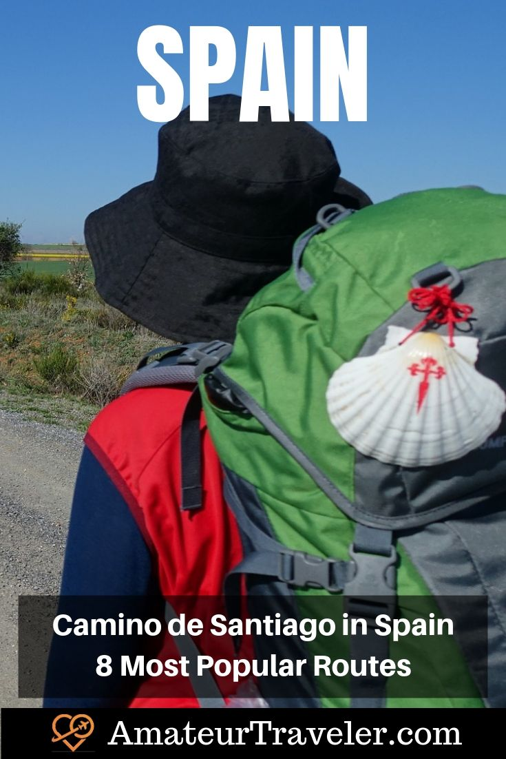 Camino de Santiago Routes in Spain - 8 Most Popular Routes #travel #trip #vacation #spain #camino #de-santiago #camino-de-santiago #trail #route #spain #portugal #trek #hike
