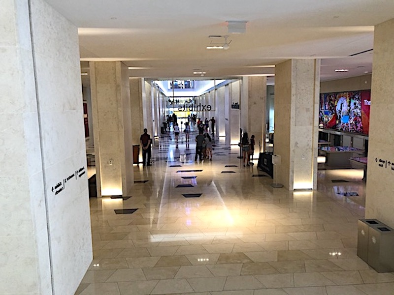 The 1st Floor entrance area inside the Museum of the Bible