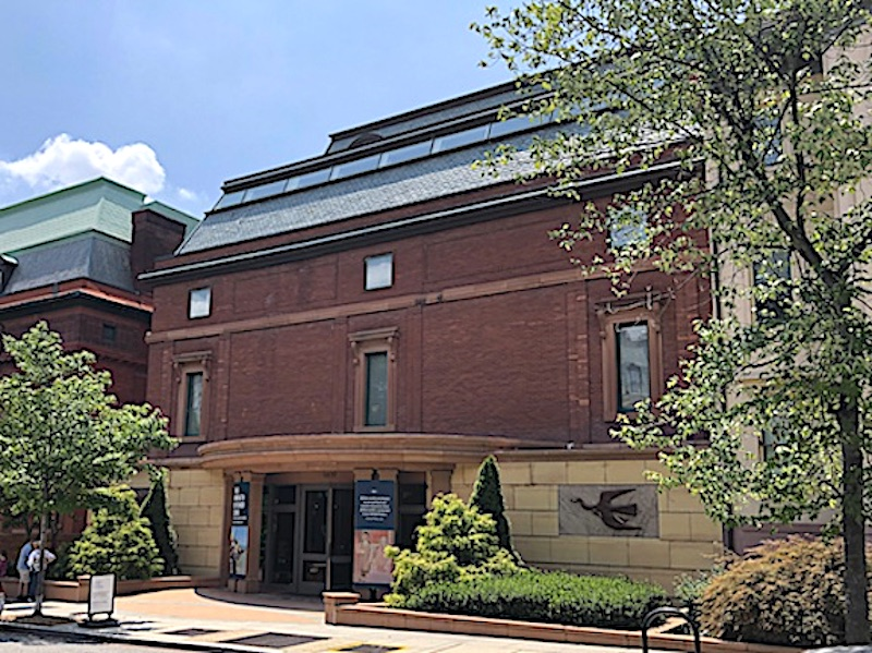 The main entrance to the Phillips Collection