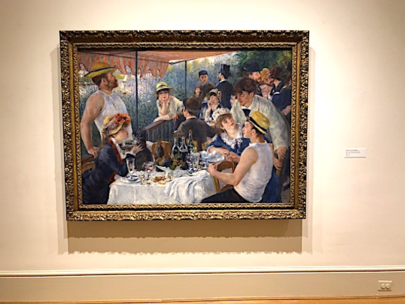 """Pierre-Auguste Renoir's """"Luncheon of the Boating Party"""" on display in the permanent collection of the Phillips Collection"""