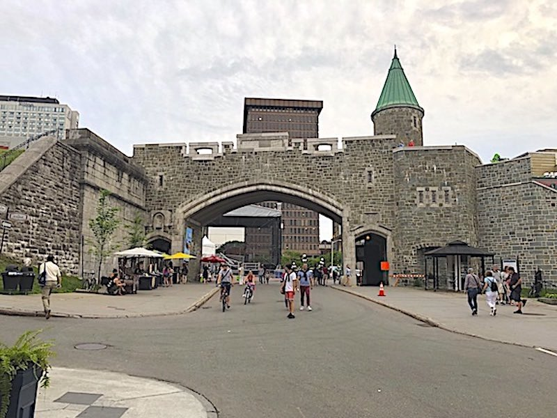 The Porte Saint-Jean entrance gate into the Old City of Quebec