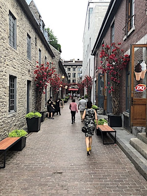 The small Rue Saint Amable leading into the Old City of Montreal