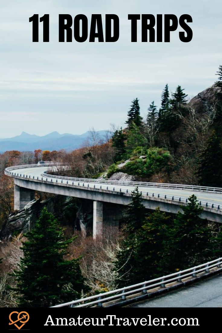 11 Great Road Trips #travel #trip #vacation #road-trip #canada #usa #california #florida #route-1 #highway-1 #us-1 #maine #iceland #canada #australia #new-zealand