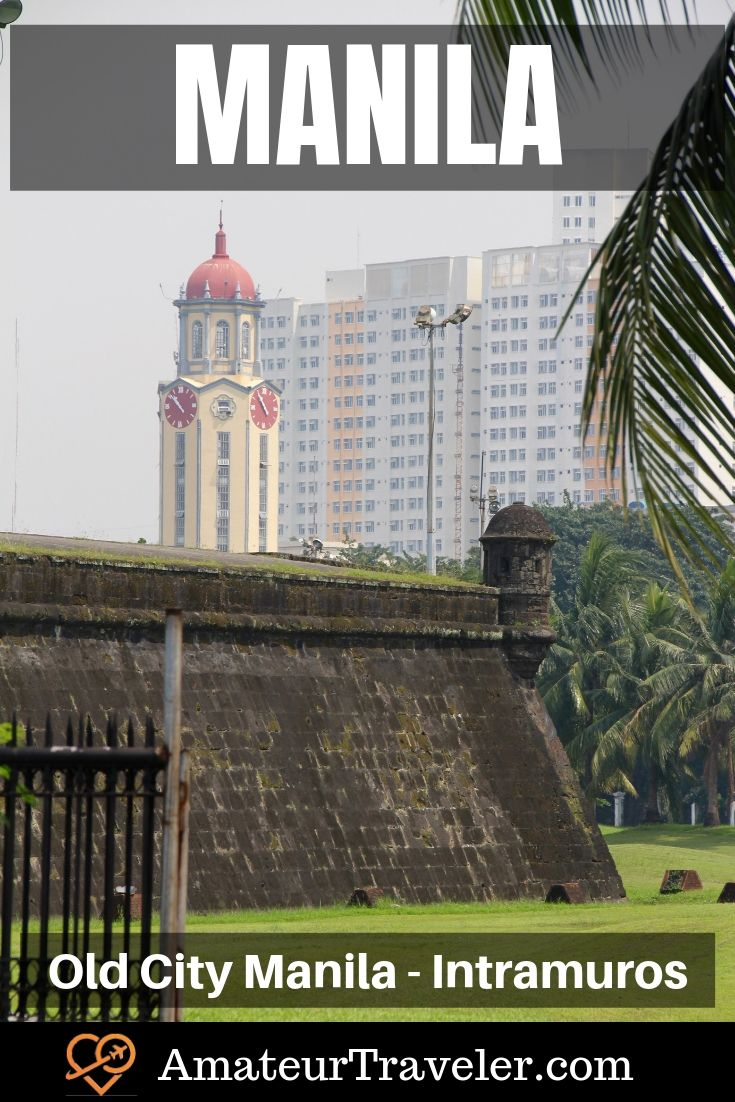 The Old Walled City in Manila, Philippines - Exploring Intramuros #Philippines #manilla #city #intramuros #travel #trip #vacation #walls #tour #things-to-do-in