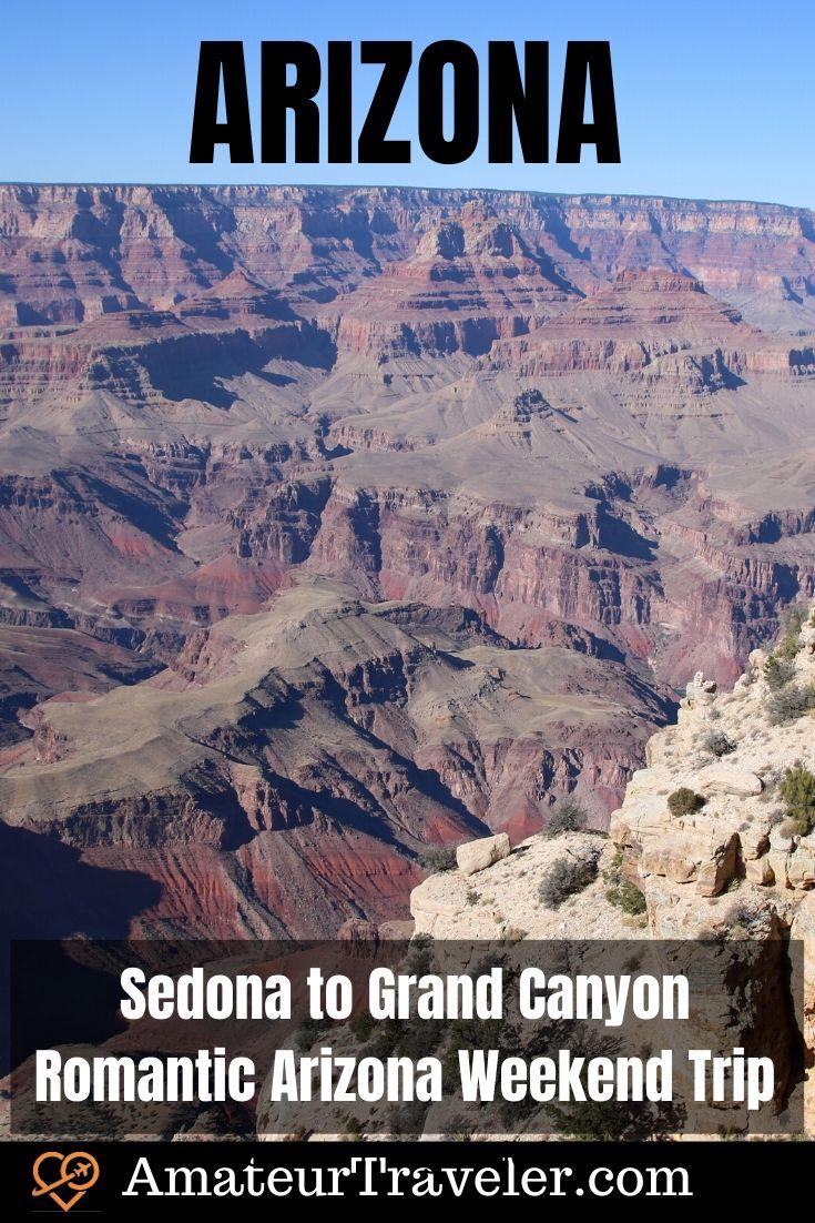 Sedona to Grand Canyon - Romantic Arizona Weekend Trip #travel #trip #vacation #arizona #sedona #grand-canyon #national-park #things-to-do-in #pink-jeep-tours #weekend