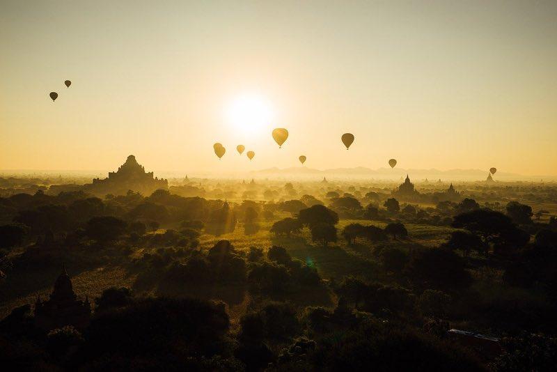 Hot Air Balloon Rides in Bagan