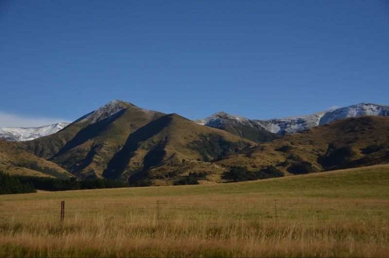 Approaching the foothills of the Southern Alps