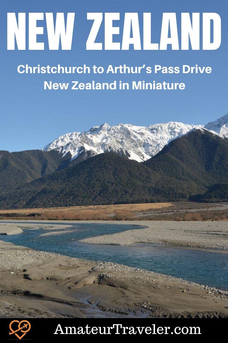 Christchurch to Arthur's PassDrive - New Zealand in Miniature #travel #trip #vacation #hike #new-zealand #south-island #aurthurs-pass #road-trip #drive