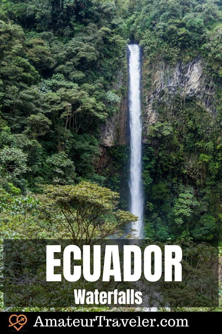 Ecuador Waterfalls | Waterfalls in Ecuador #travel #trip #vacation #south-america #ecuador #aterfalls #nature #adventure