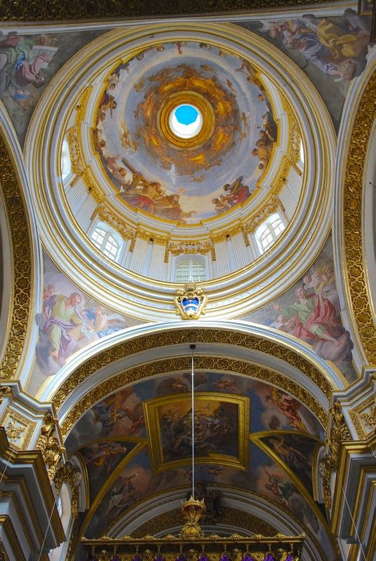 Inside Dome of Mdina Cathedral