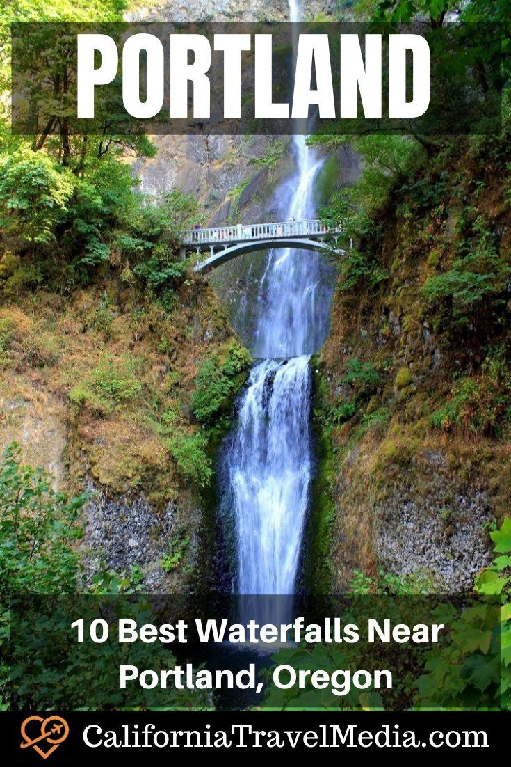 10 Best Waterfalls Near Portland, Oregon | What to do in Portland | Hikes near Portland #travel #trip #vacation #oregon #portland #waterfall #falls #multnomah #hikes