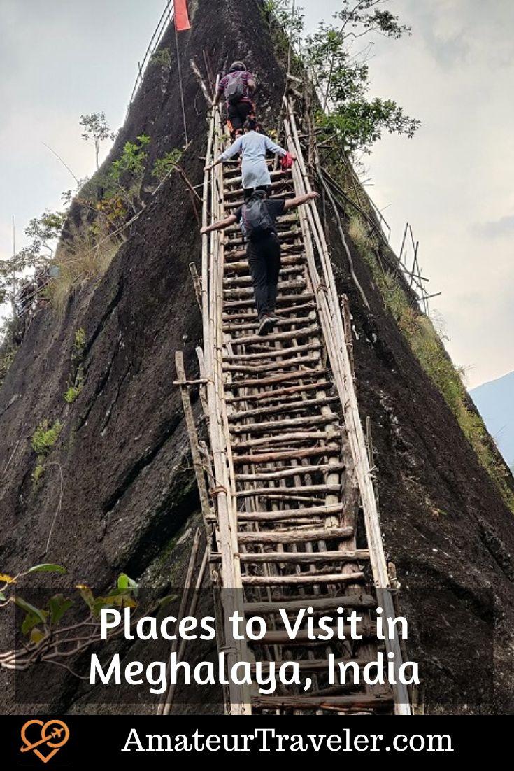 Places to Visit in Meghalaya, India | Things to see in Meghalaya, India | Tourism Sites in Meghalaya, India #travel #trip #vacation #india #Meghalaya #caves #waterfalls #dawki #shillong #living-root-bridge #things-to-do-in