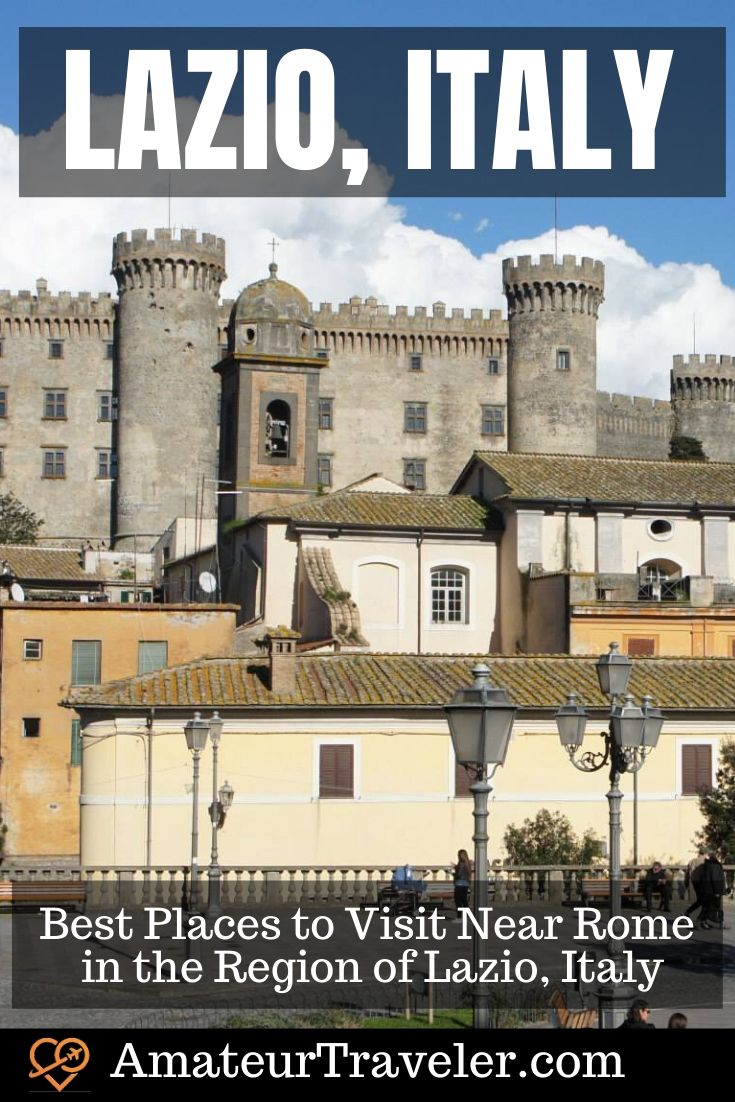 Best Places to Visit Near Rome in the Region of Lazio, Italy | Things to do in Lazio #travel #trip #vacation #lazio #rome #italy #places #cities #what-to-do-in