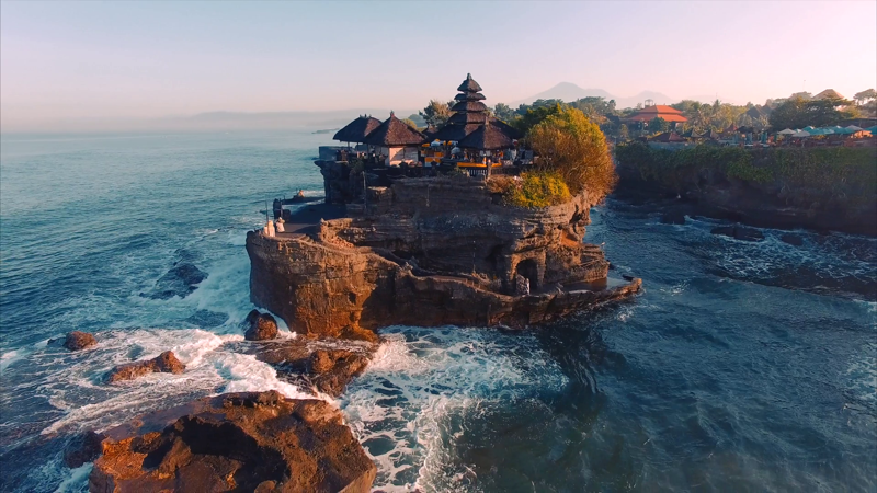 Tanah Lot off the Indonesian island of Bali