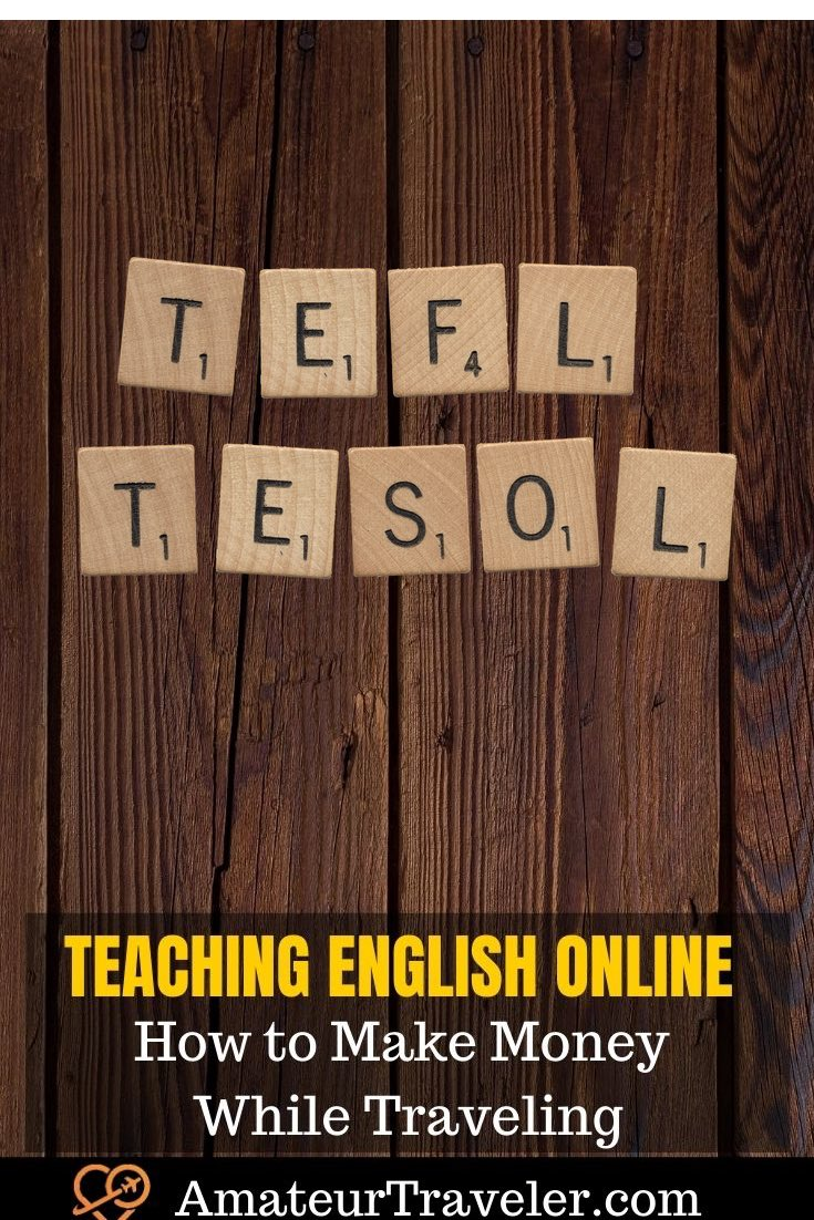 Teaching English Online - How to Make Money While Traveling #english #teaching #tefl #tesol