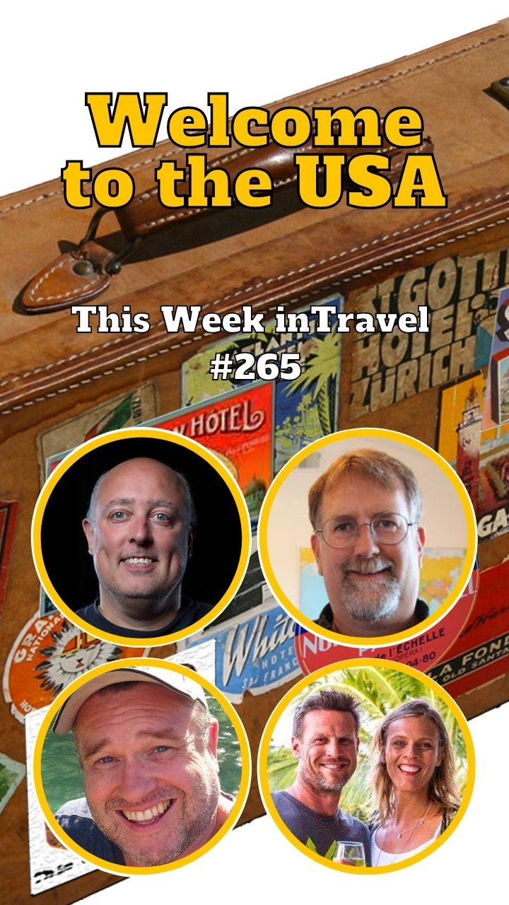 Welcome to the USA - This Week in Travel #265 - This Week in Travel - Travel News Podcast. Regular hosts Gary Arndt, Spud Hilton, and Chris Christensen are joined by this week's guests: Caz and Craig Makepeace from the yTravel blog who just got their U.S. green card after years of global travel. #usa #travel #australia