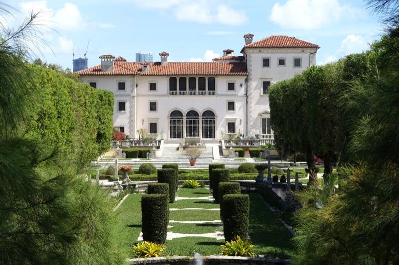 Villa from the gardens - Vizcaya Museum and Gardens - Miami, Florida