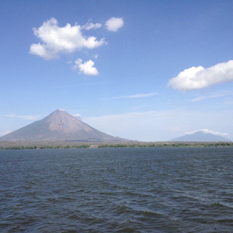 Ometepe Island from Lake Nicaragua