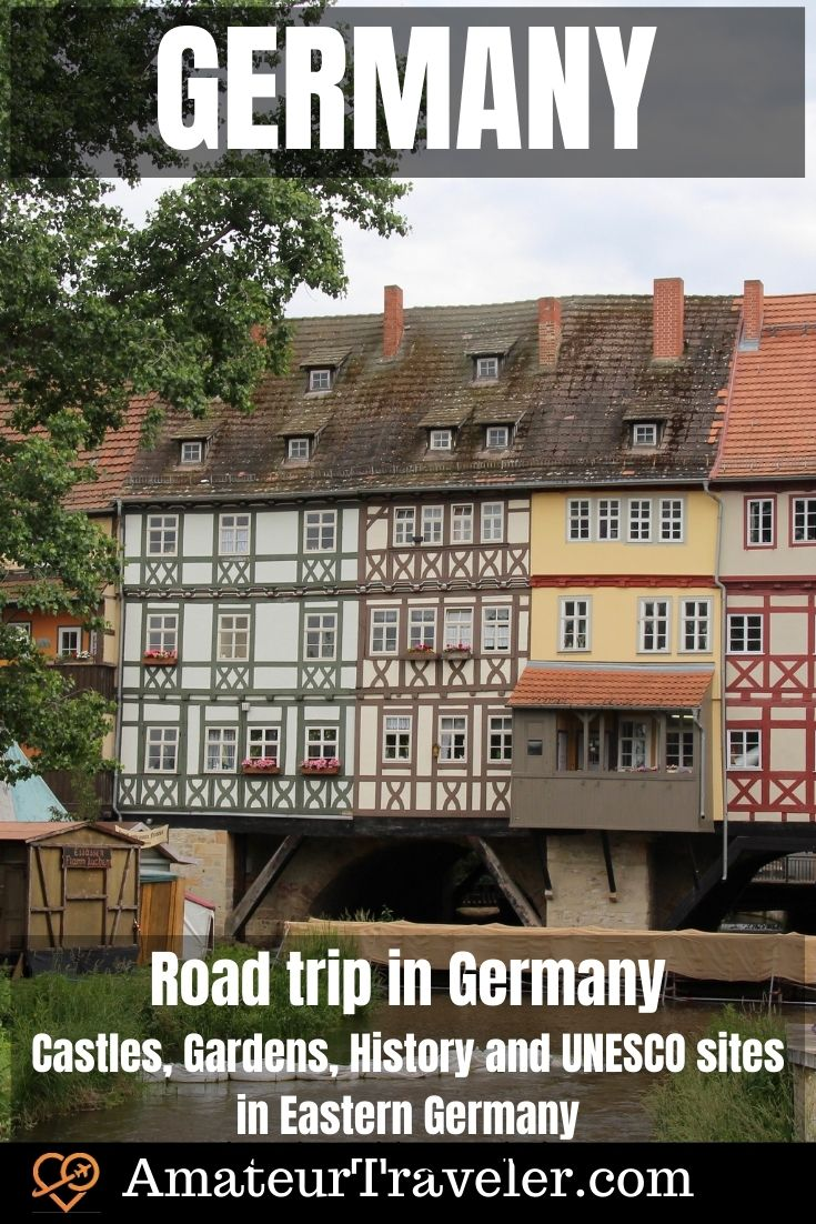Road trip in Germany - Castles, Gardens, History and UNESCO sites in Eastern Germany | Things to do in Germany #travel #germany #luther #road-trip #berlin #things-to-do-in #wartburg #erfurt #eisenach #wittenburg #dessau #weimar