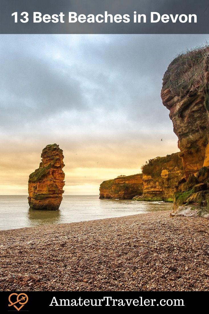 13 Best Beaches in Devon, England #travel #trip #vacation #beach #devon #englad #uk #united-kingdom