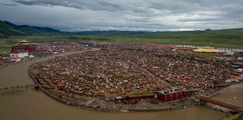 Yarchen Gar as seen from above