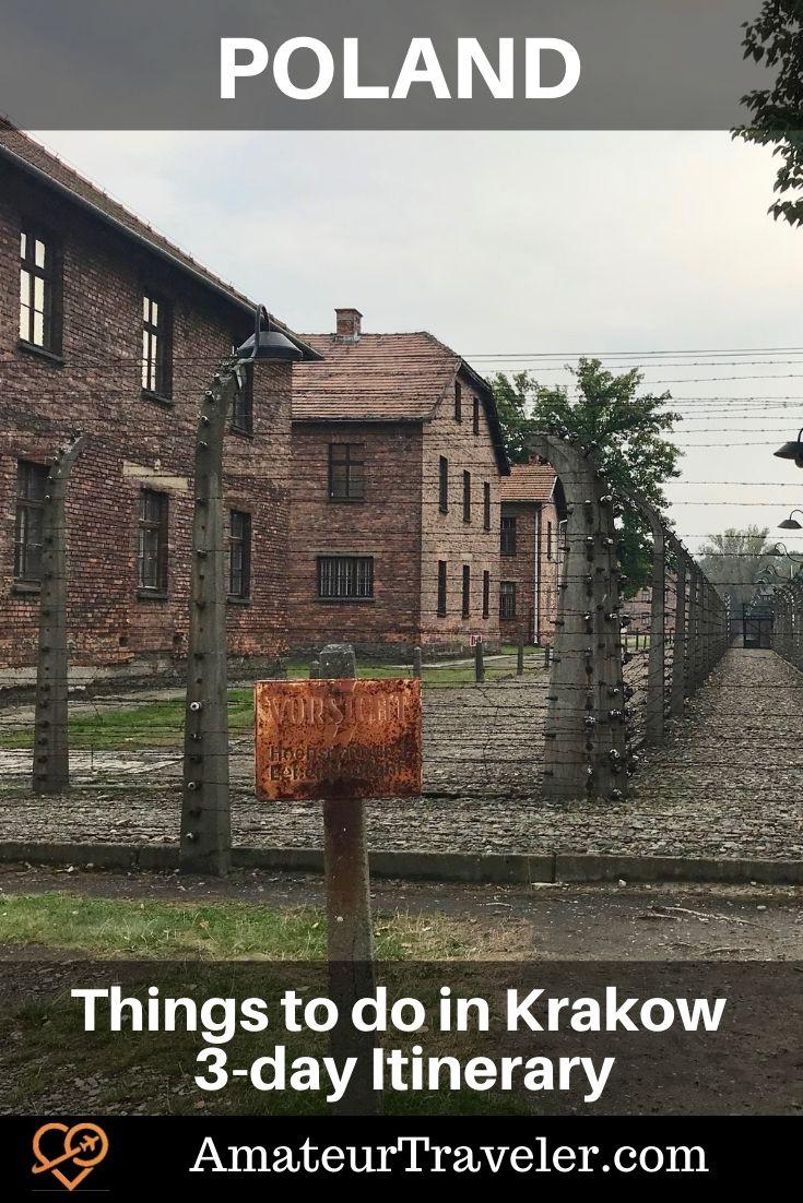 Things to do in Krakow Poland - 3-day Itinerary #poland #krakow #travel #trip #vacation #schindler #Wieliczka #Auschwitz