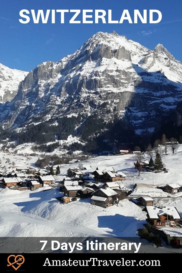 7 Days in Switzerland Itinerary: Travel Guide #switzerland #interlaken #zurich #lucerne #Jungfraujoch #travel #trip #vacation