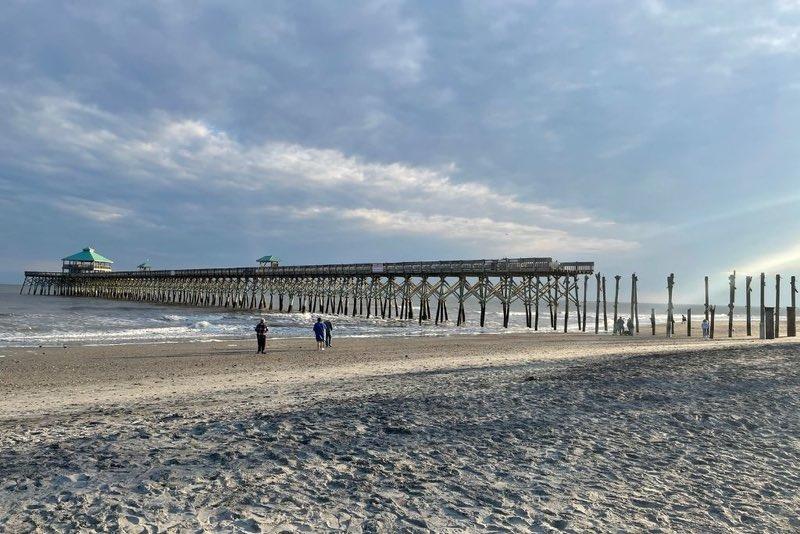 Folly Beach Pier Under Construction - March 2021